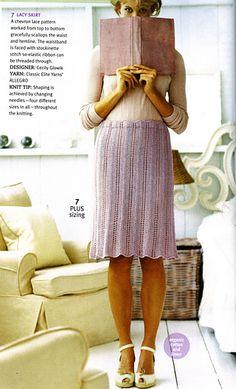 #07 Lacy Skirt pattern by Cecily Glowik MacDonald