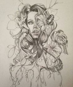 This sketch is amazing By My collection of cool/in. This sketch is amazing By My collection of cool/interesting/inspirational artwork and Art Drawings Sketches, Tattoo Sketches, Tattoo Drawings, Pencil Drawings, Pencil Art, Nature Tattoos, Body Art Tattoos, Sleeve Tattoos, Inspirational Artwork