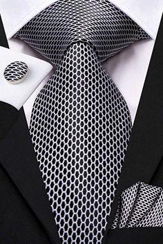 Mens Ties Crafts, Tie Crafts, Silver Tie, Designer Suits For Men, Best Dressed Man, Tie Pattern, Mens Silk Ties, Tie Shoes, Wedding Ties