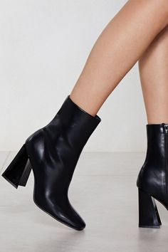 Nasty Gal Flare for Dramatics Heeled Bootie High Ankle Boots, Heeled Boots, Bootie Boots, Shoe Boots, High Heels, Women's Boots, Shoes Sandals, Square Toe Boots, Trendy Shoes