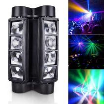 MMPY Moving Head Stage Lights LED DJ Lighting RGBW DMX 512 Dual Sweep Pulse Strobe Effect Lights Used in Restaurants Live Clubs Concerts etc. Dmx Lighting, Stage Lighting, Unique Lighting, Decorative Lighting, Disco Party Lights, Moving Head, Concert Lights, Portable Stage, Spider Light