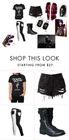 """""""my chemical romance"""" by batman-nat ❤ liked on Polyvore featuring BDG, Urban Decay, Max Factor and Paul Frank"""