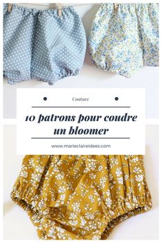 10 patrons pour coudre un bloomer - Kids Clothes Baby Couture, Couture Sewing, Sewing Patterns For Kids, Sewing Projects For Kids, Clothing Tags, Clothing Patterns, Maxi Dress Tutorials, Girl Dress Patterns, Skirt Patterns