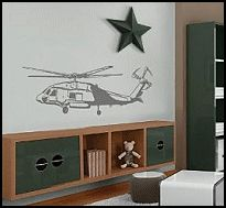 Love this idea for a Military themed Boys bedroom.