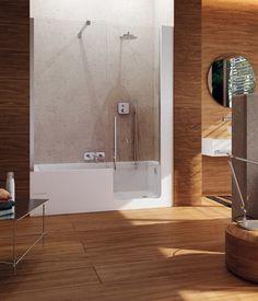 Elle è uno spazio doccia/vasca dove l'eleganza ed il minimalismo si fondono con il comfort e la funzionalità, rispondendo alle esigenze...