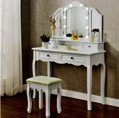 My New Room, My Room, Make Up Tisch, Makeup Dressing Table, Makeup Desk, Bedroom Inspo, Girls Bedroom, Makeup Cosmetics, Vanity