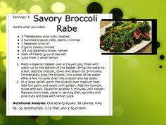 savory broccoli rabe #recipe www.neverstopfitness.com