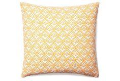 Pismo 20x20 Cotton Pillow, Tangerine