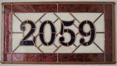 Custom Address Plaque, Stained Glass House Numbers, New Home Gift