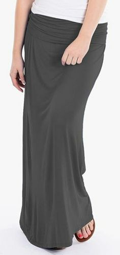 Comfy and Versatile Grey Maxi Skirt