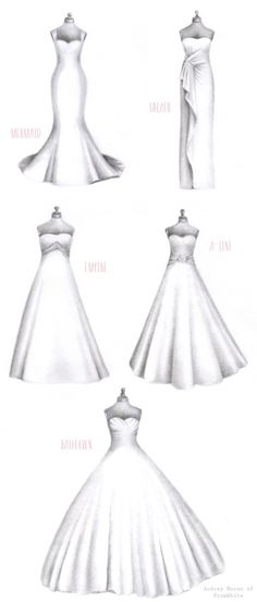 Discover the right wedding dress style for your body!