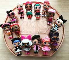All the new LOL dolls I got this Christmas! Series 2 Glitter Series and the Big LOL Surprise
