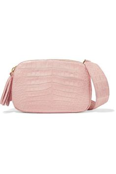 Nancy Gonzalez - Crocodile Shoulder Bag - Baby pink - one size