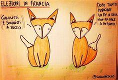 Elezioni in Francia. Macron e Le Pen.