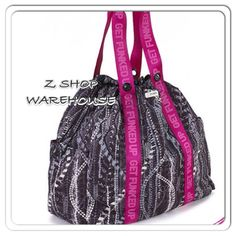 "Zumba® GET FUNKED UP DRAWSTRING BAG Purse Street Boss Convention XLARGE 17""X16""  #Zumba #DuffleGymBag"