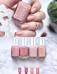 essie & bare with me & Vergleiche & comparisons. essie & bare with me & Vergleiche & comparisons. The post essie & bare with me Essie Nail Polish Colors, Nails Polish, Neutral Nails, Nude Nails, Glitter Nails, Hair And Nails, My Nails, Manicure And Pedicure, Nails Inspiration