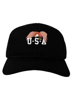TooLoud Bald Eagle USA Adult Dark Baseball Cap Hat