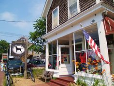 The Black Dog (foreground), Vineyard Haven - Martha's Vineyard (we're just across the street!)