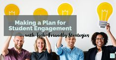 Make a plan for student engagement including these favorite tech-friendly strategies. Learn from Heather Wolpert-Gawron about engaging learning activities. Make A Plan, Student Engagement, Educational Technology, Learning Activities, Students, Classroom, Social Media, Tips, Class Room