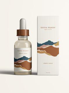 Packaging/Product Design Terra Mater Branding — Salt and Pine Studio Design Typography, Graphic Design Branding, Label Design, Luxury Graphic Design, Brochure Design, Web Design, Design Food, Luxury Packaging, Brand Packaging