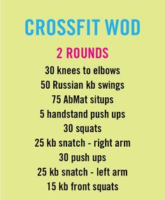 Crossfit workout WOD.