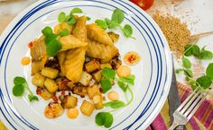 Cornmeal Fried Whitefish with Potato Hash