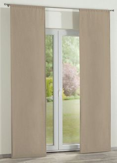 Panelové závesy (japonská stena) 2 ks, béžová, 60 x 260 cm - Dekoria