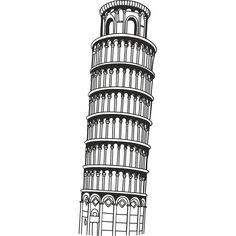 Vinilo Torre de Pisa 2
