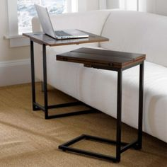 """Nice looking and inexpensive alternative to one dining table. Folds out to 24"""" work space -- double duty!"""