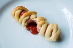 Mummy hot dog spilling his guts