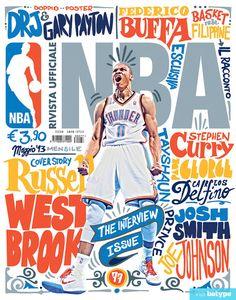 Rivista Ufficiale NBA magazine cover.