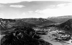 1911. An aerial photo of Animas Valley during high waters looking North from Animas Mountain. This photo predates Highway 550.