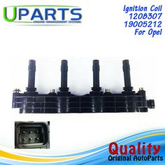 UPARTS Ignition Coil For Opel/Vauxhall Vectra B Astra G Zafira Corsa G Meriva 1.4 1.6 Z16XE Z14XE Z16YNG 1208307/19005212 Ignition Coil, Opel Vectra, Poland