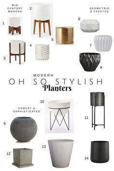 Modern Oh So Stylish Planters, fun planters that look good inside and out, plus sharing what to plant insde!  — Chic Little House