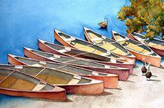 Who's Paddling ? by Gene Rizzo Giclee Prints ~ 11x15 12x16 15x22 16x24 22x30 24x32 32x44 36x48 x x