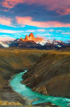Sunrise at El Chalten, Patagonia, Argentina, by Marcio Dufranc, on 500px.
