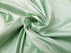 Mint Green Silk Dupion