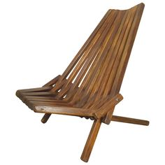 Attractive Mid-Century Folding Slat Chair | From a unique collection of antique and modern chairs at https://www.1stdibs.com/furniture/seating/chairs/