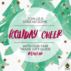 Fa la la la laaaa! 'Tis the season of gifts & gift giving! Need ideas? There's something for everyone on our Top 15 #Holiday #GiftGuide: FairTradeUSA.org/Holidays #GiveFair #FairTrade