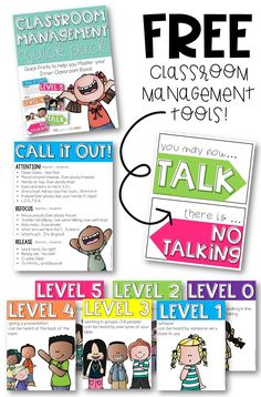 Grab these FREE classroom management posters and signs and finally wrangle all that talking! This amazing pack includes: noise level posters, a call and response reference sheet, and a no talking sign. Oh and they're FREE!