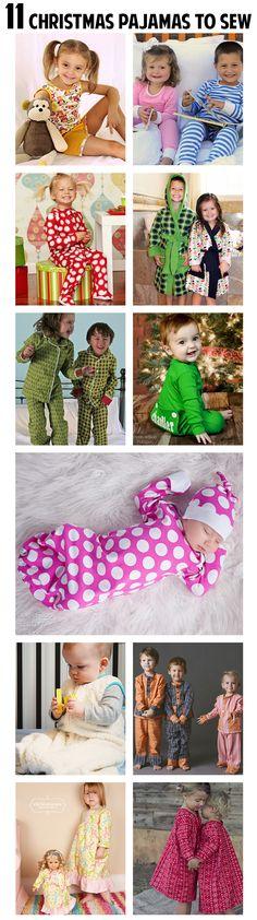 11 fantastic pajama patternst o sew for Christmas!