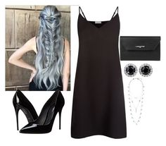 """black queen"" by azranumanovic ❤ liked on Polyvore featuring Sandro, Dolce&Gabbana, Lancaster, Lucky Brand, women's clothing, women, female, woman, misses and juniors"
