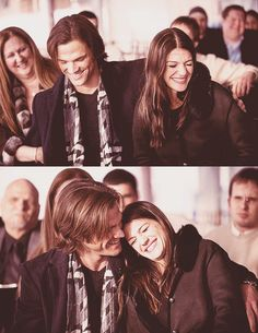 Jared Padalecki and his wife (oh goodness, they're the cutest!)