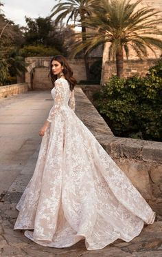 Wedding Gown naviblue 2019 bridal long sleeves bateau neck full embellishment elegant modest a line wedding dress covered lace back chapel train bv -- Naviblue 2019 Wedding Dresses Wedding Dress Sleeves, Long Wedding Dresses, Long Sleeve Wedding, Blush Lace Wedding Dress, Wedding Lace, Wedding Dress Fails, Cowgirl Wedding, Alternative Wedding Dresses, Camo Wedding