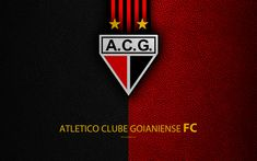 Download wallpapers Atletico Clube Goianiense, FC, 4K, Brazilian football club, Brazilian Serie A, leather texture, Goianiense emblem, badge, logo, Goiania, Goias, Brazil, football