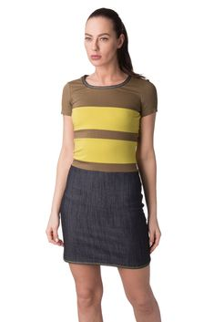 189eb7cba PIANURASTUDIO Mini Bodycon Dress Size 40 / S Striped Contrast Denim Skirt  #fashion #clothing #shoes #accessories #womensclothing #dresses (ebay link)
