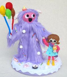 Yeti Kawaii Art Doll Whimsy Stroll by MsBittyKnacks on Etsy, $60.00