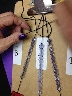 Beaded Bracelet PATTERN Free TUTORIAL excellent photos-  3 Strand Shamballa