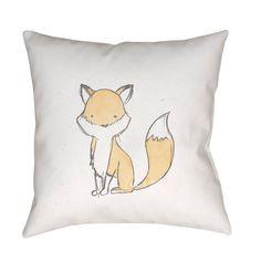 Surya Nursery Fox Outdoor Pillow - NUR003-1818