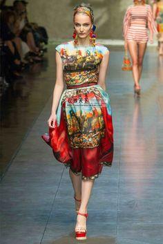 Morpheus Boutique  - Colorful Pattern Chiffon Sleeveless Celebrity Pleated Hem Dress